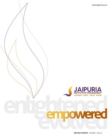 005 Jaipuria Placement Brochure 2012 by Amit Garg - issuu