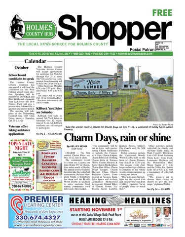 Holmes county hub shopper oct 10 2013 by gatehouse media neo issuu page 1 fandeluxe Gallery