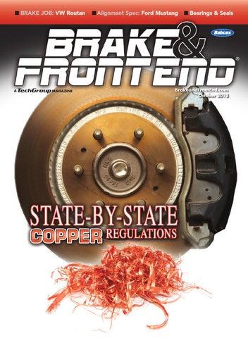 Brake & Front End, October 2013