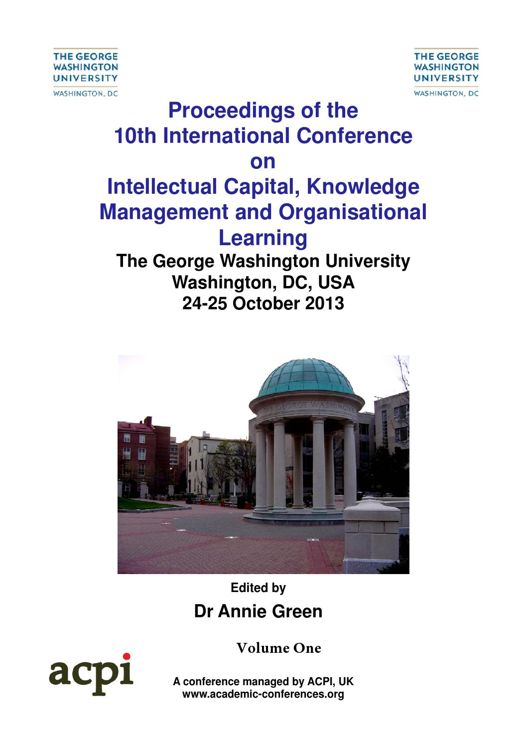 Proceedings of the 10th International Conference on