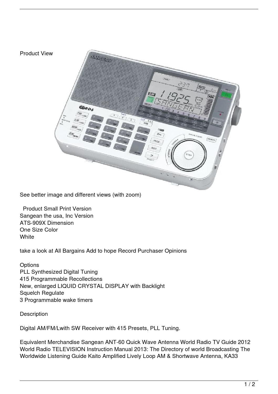 Kaito Ka33 manual