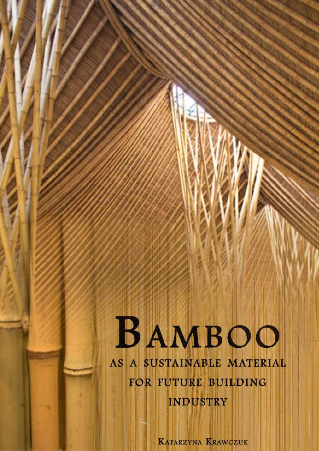 Bamboo as a sustainable material for future building for Sustainable roofing materials