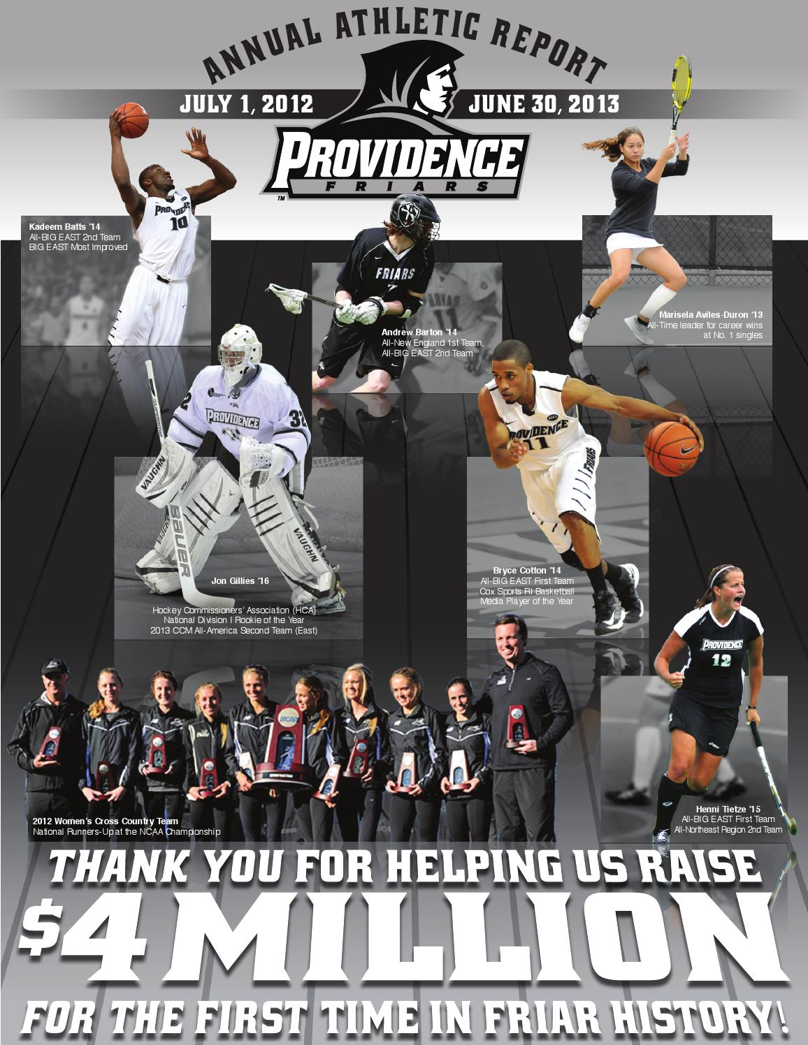 2013 Annual Athletic Report by Providence College - issuu