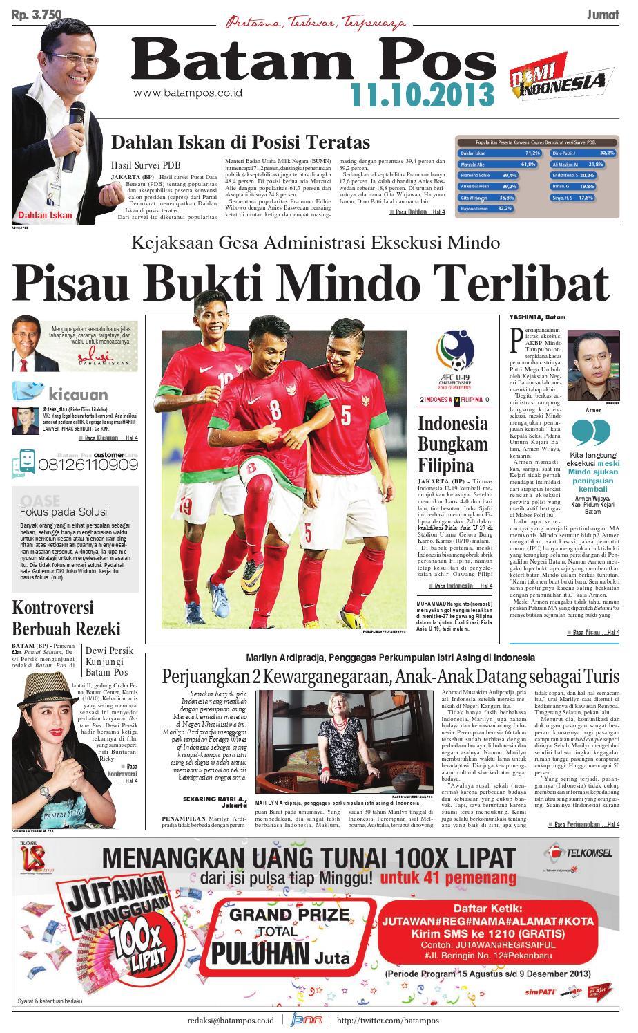 11 Oktober 2013 By Batampos Newspaper Issuu Revo Fit Raving Red Klaten
