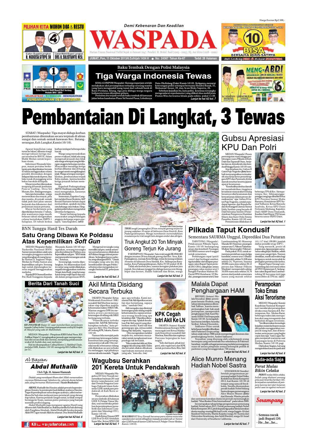 Waspada Jumat 11 Oktober 2013 By Harian Waspada Issuu