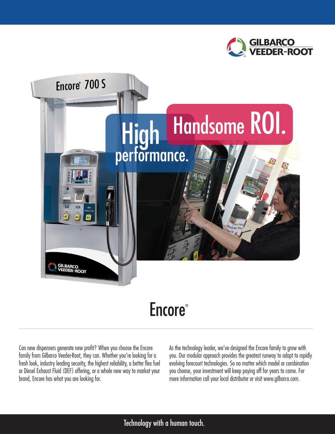 encore 700 s fuel dispenser line features advantages by gilbarco mea issuu. Black Bedroom Furniture Sets. Home Design Ideas