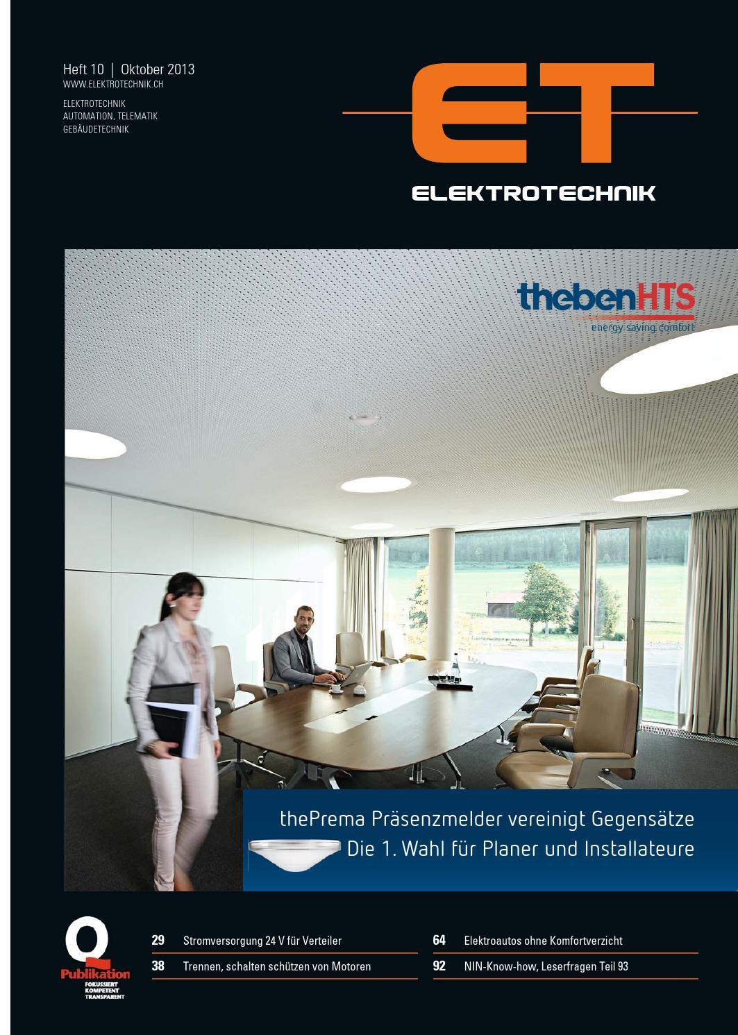 Elektrotechnik 10/2013 by AZ Fachverlage AG - issuu