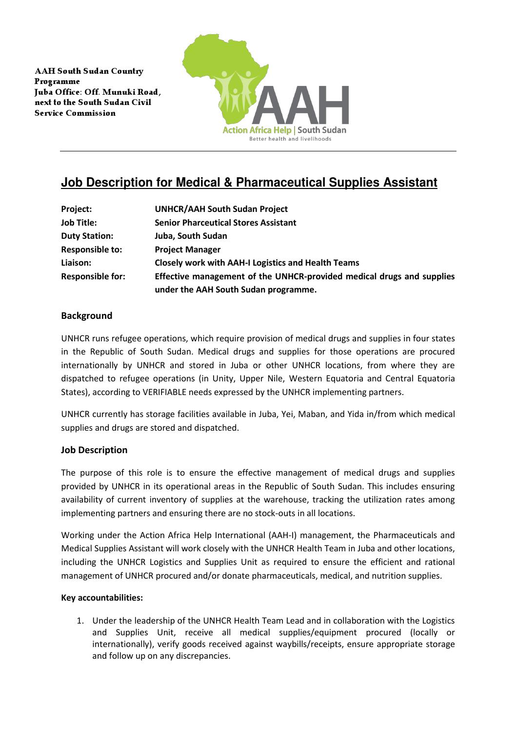 Job20advert pharmaceutical20assistant by ann thuo issuu publicscrutiny Image collections