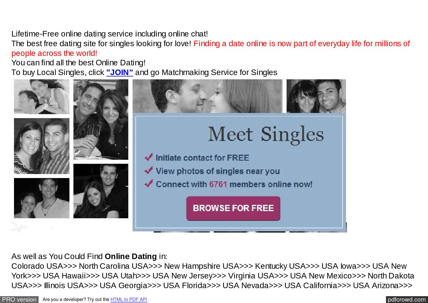 Online dating site for free in usa