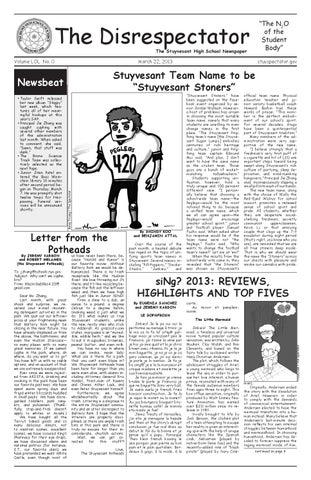d163b1534 Volume 103, Issue 11 by The Stuyvesant Spectator - issuu