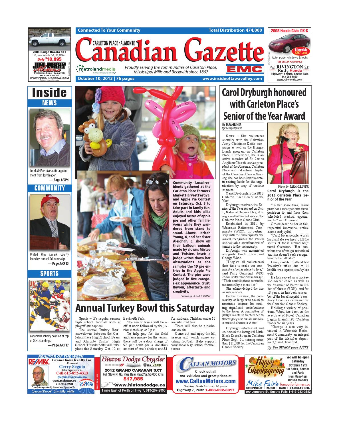 7d210a87df43 Almontecarletonplace101013 by Metroland East - Almonte Carleton Place  Canadian Gazette - issuu