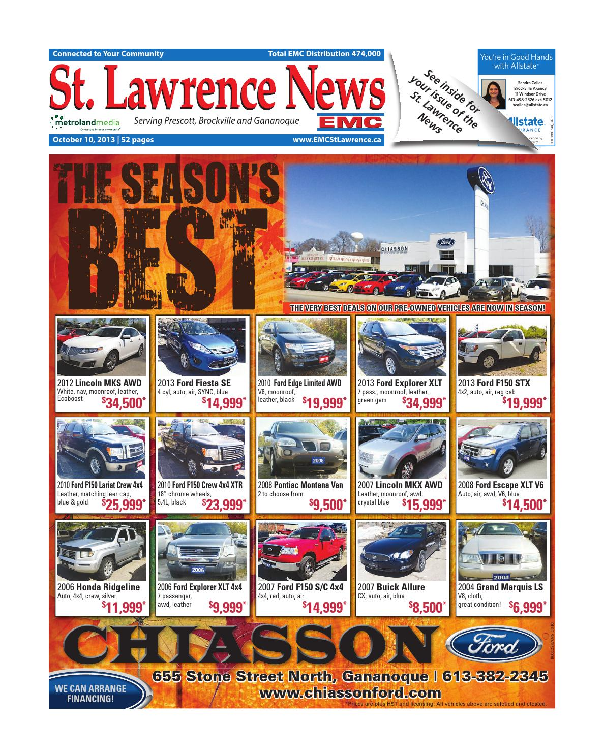 Stlawrence101013 By Metroland East St Lawrence News Issuu 2004 Trailblazer Diagramclunk Spring Goes In The Transbolt