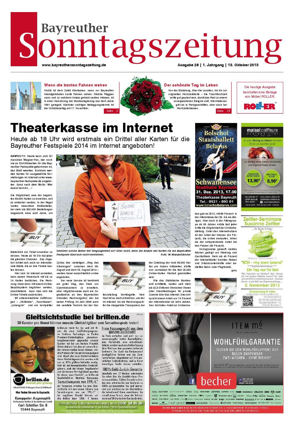 Bayreuther sonntagszeitung 13 10 2013 by Bayreuther Sonntagszeitung ...