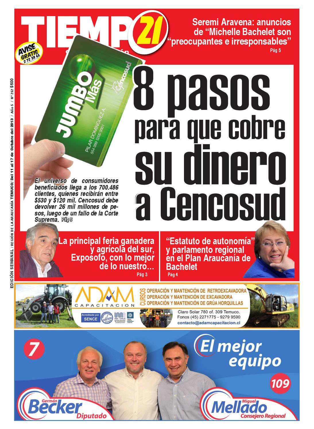 Tiempo21 Edici N 252 8 Pasos Para Que Cobre Su Dinero A Cencosud  # Muebles Caupolican San Carlos