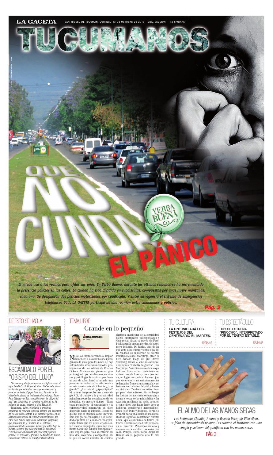 13 10 2013 Tucumanos LA GACETA by La Gaceta - issuu