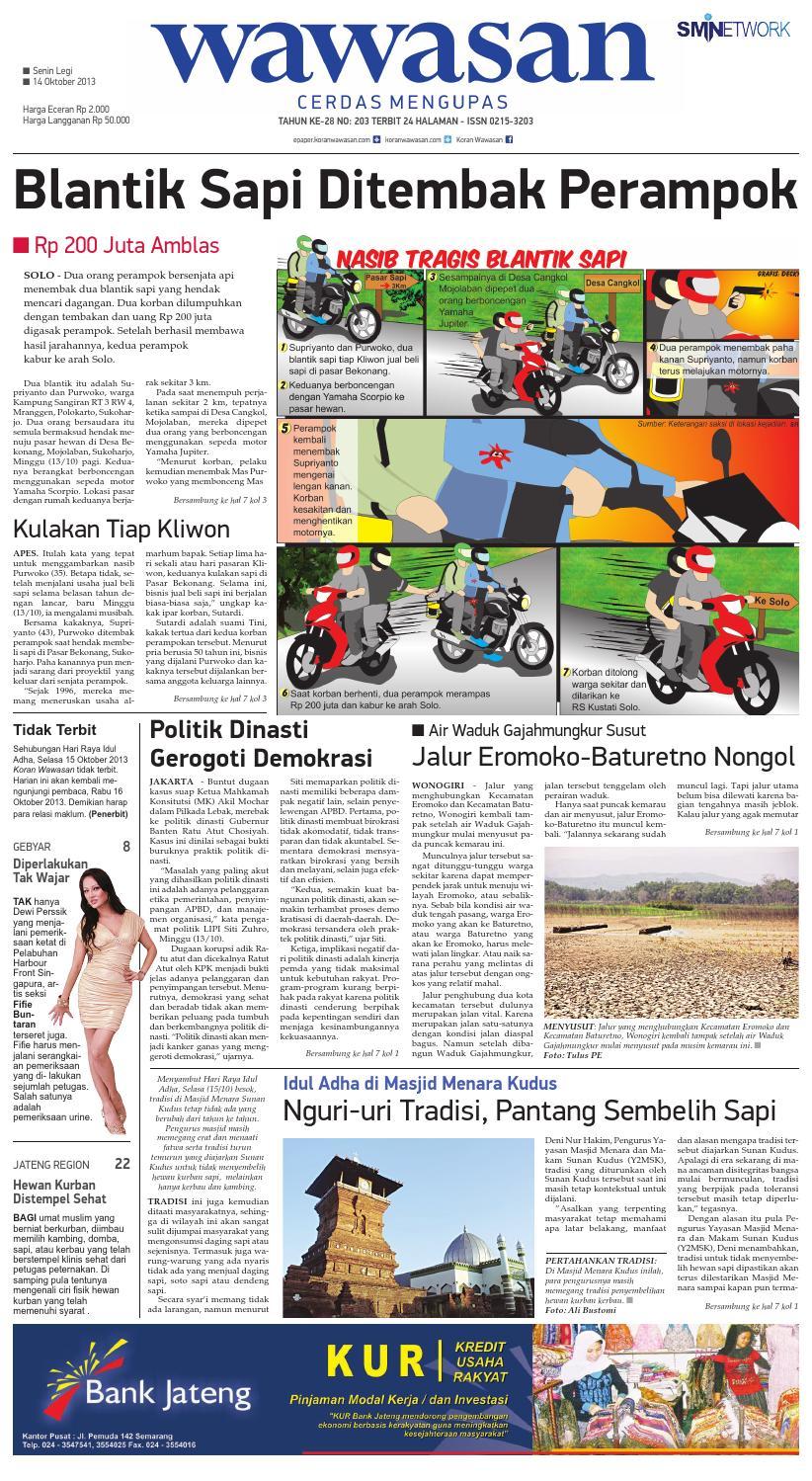 Wawasan 14 Oktober 2013 By Koran Pagi Issuu Produk Ukm Bumn Kain Batik Eksklusif Lasem Manuk