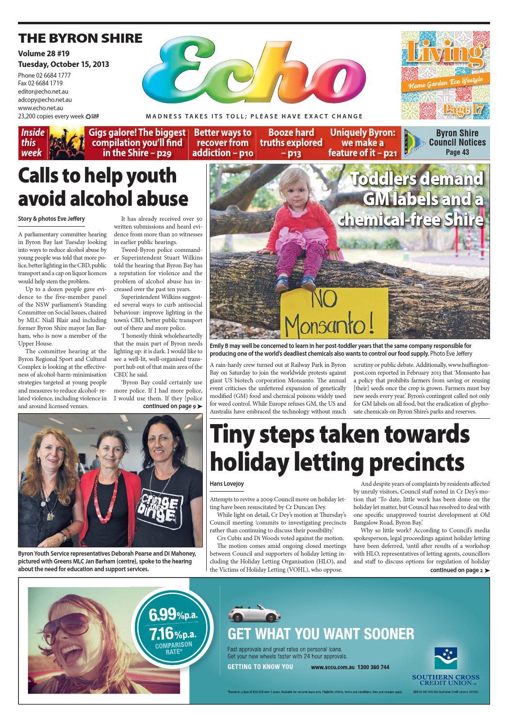 Byron Shire Echo – Issue 28 19 – 15/10/2013 by Echo
