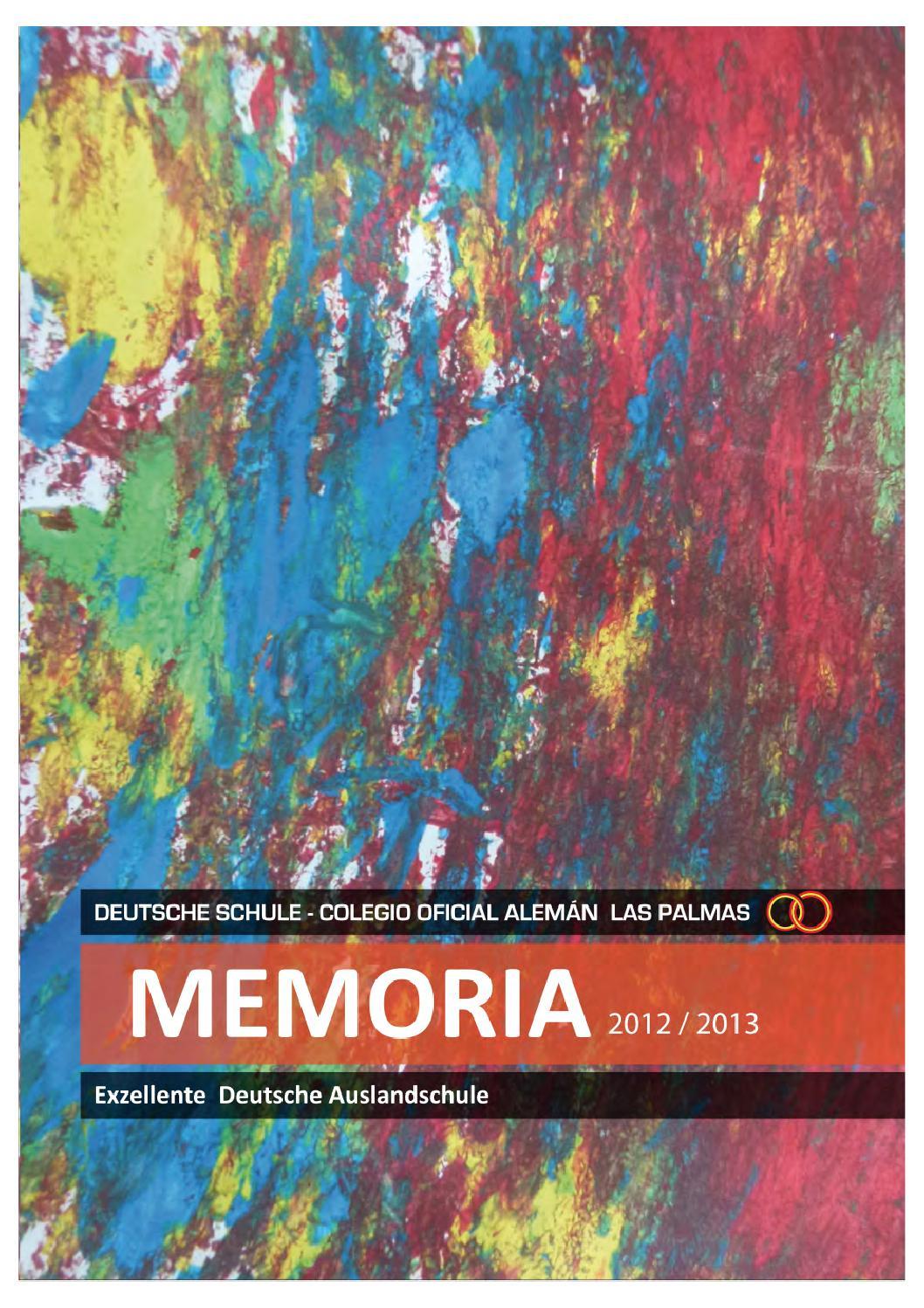 Deutsche Schule Las Palmas Memoria 2012 13 By Dslpa Issuu
