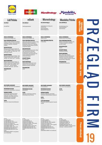 Broszura Informacyjna Dni Kariery Warszawa 24 25 Pazdziernika 2013
