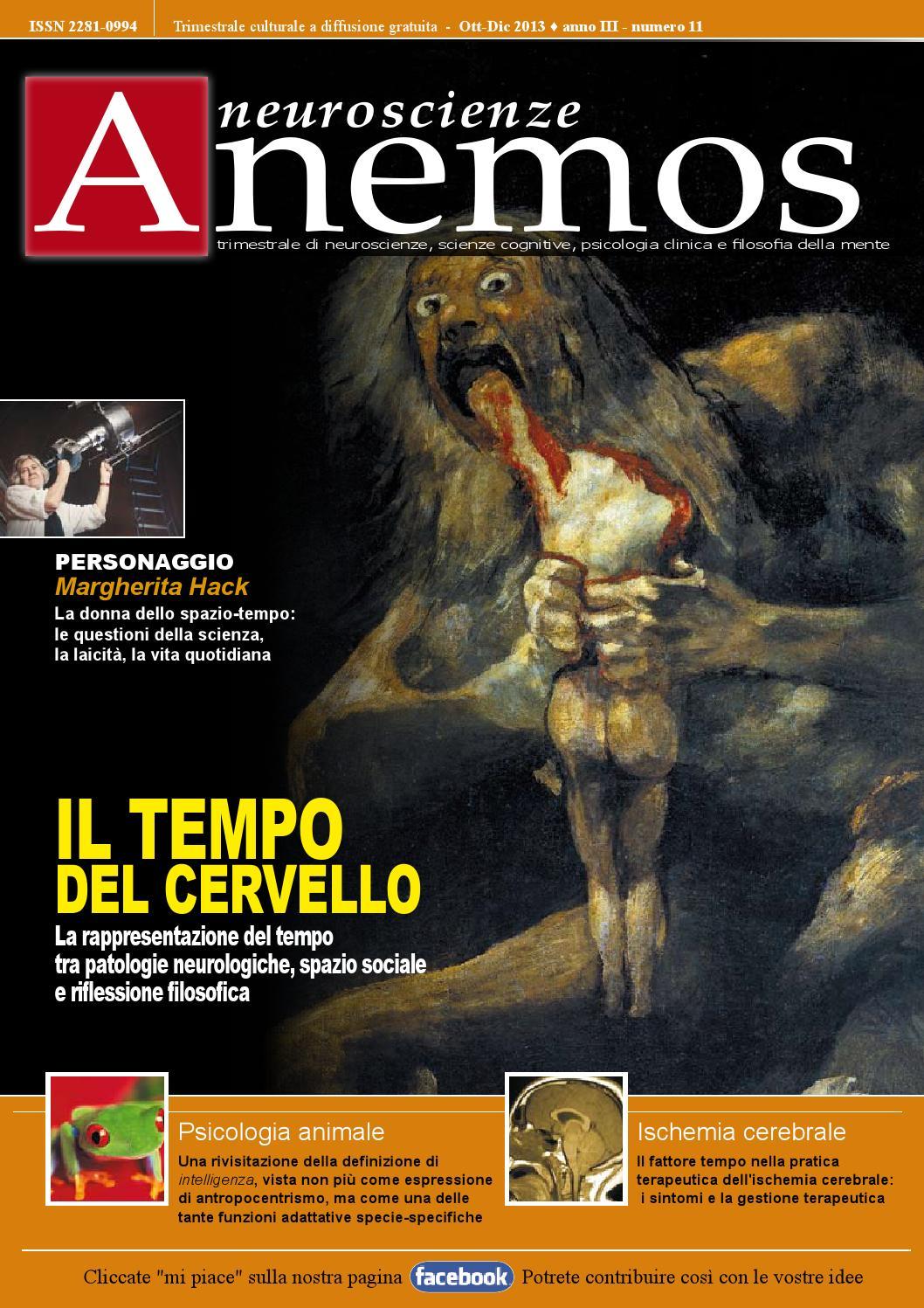 "Neuroscienze Anemos"" Ott Dic 2013 Anno III N 11 By La Clessidra"