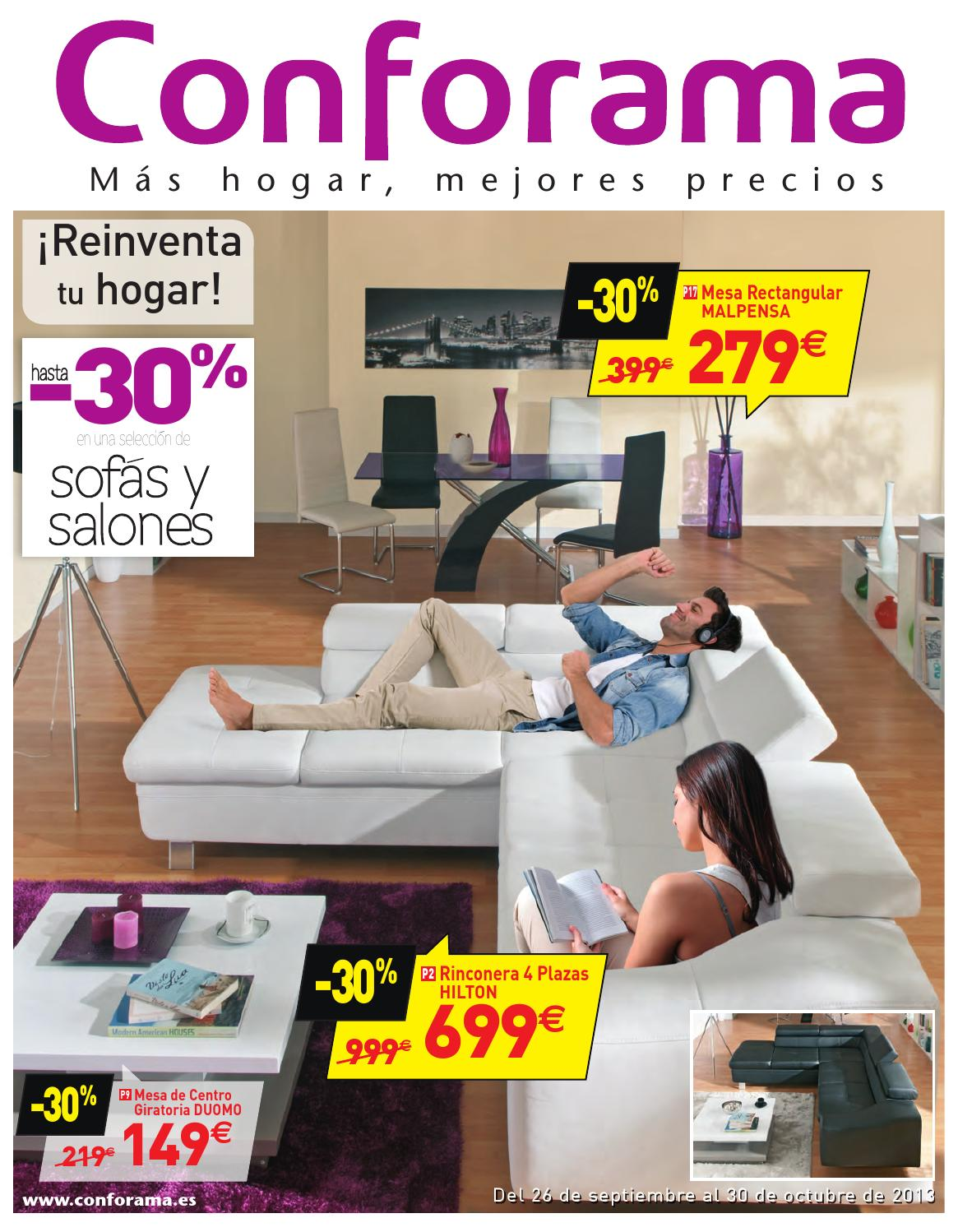 Catalogo conforama by issuu for Sofa hilton conforama