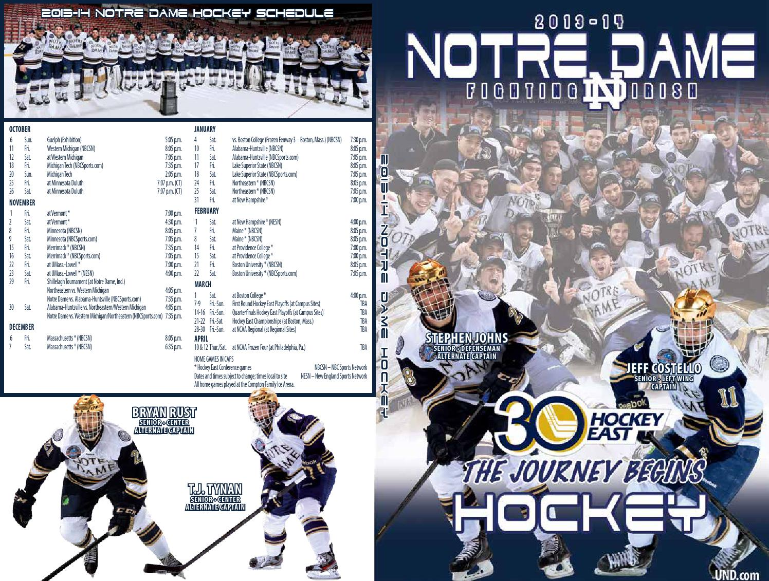 2013-14 Notre Dame Ice Hockey Media Guide by Chris Masters - issuu 27fab6813