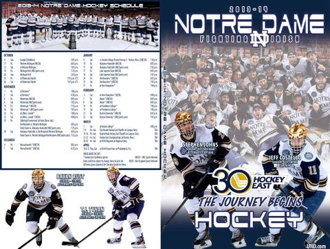 2013-14 Notre Dame Ice Hockey Media Guide by Chris Masters - issuu 1ff07a5a0