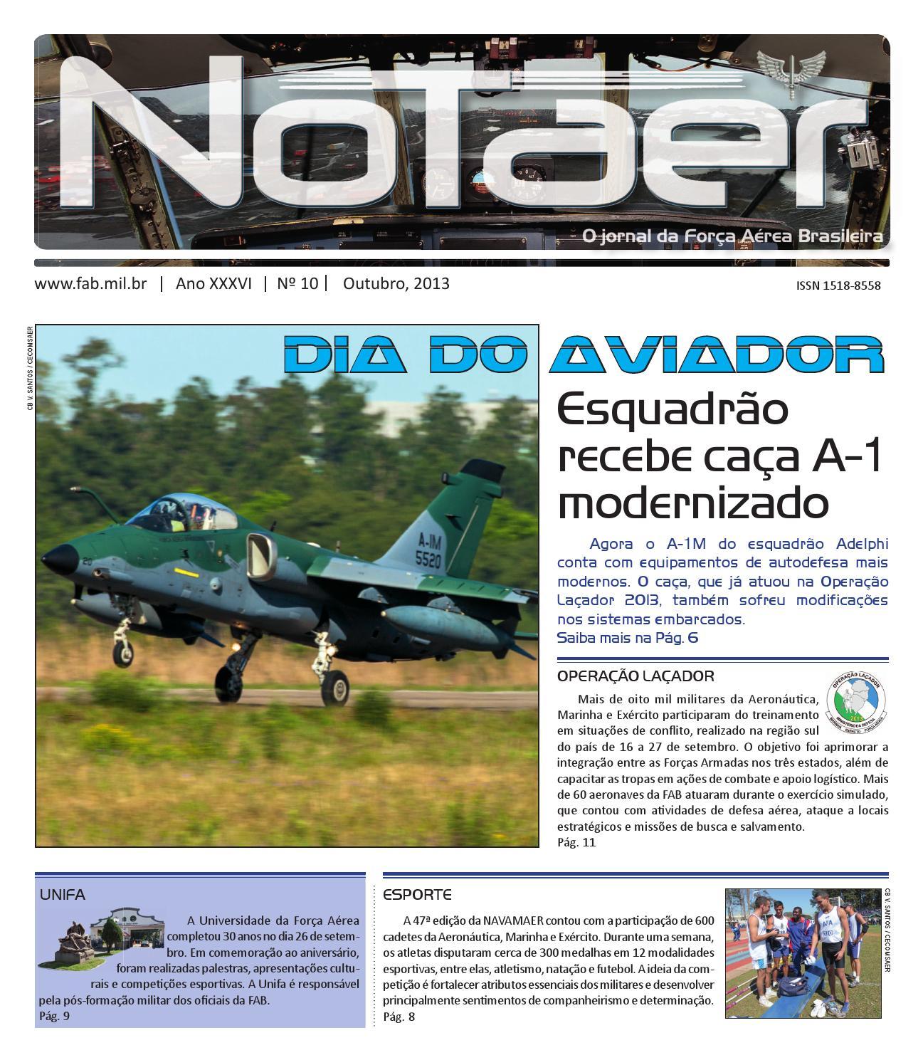 ca7befb65 Notaer Outubro 2013 by Força Aérea Brasileira - issuu