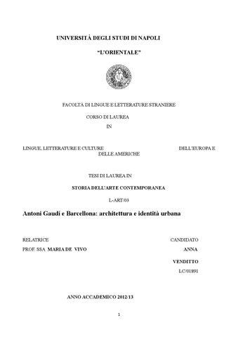 Gaud e barcellona architettura e identit urbana by for Studi di architettura napoli