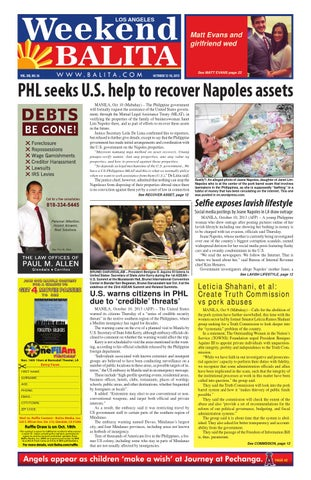 Weekend balita october 12, 2013 by Balita Media Inc - issuu