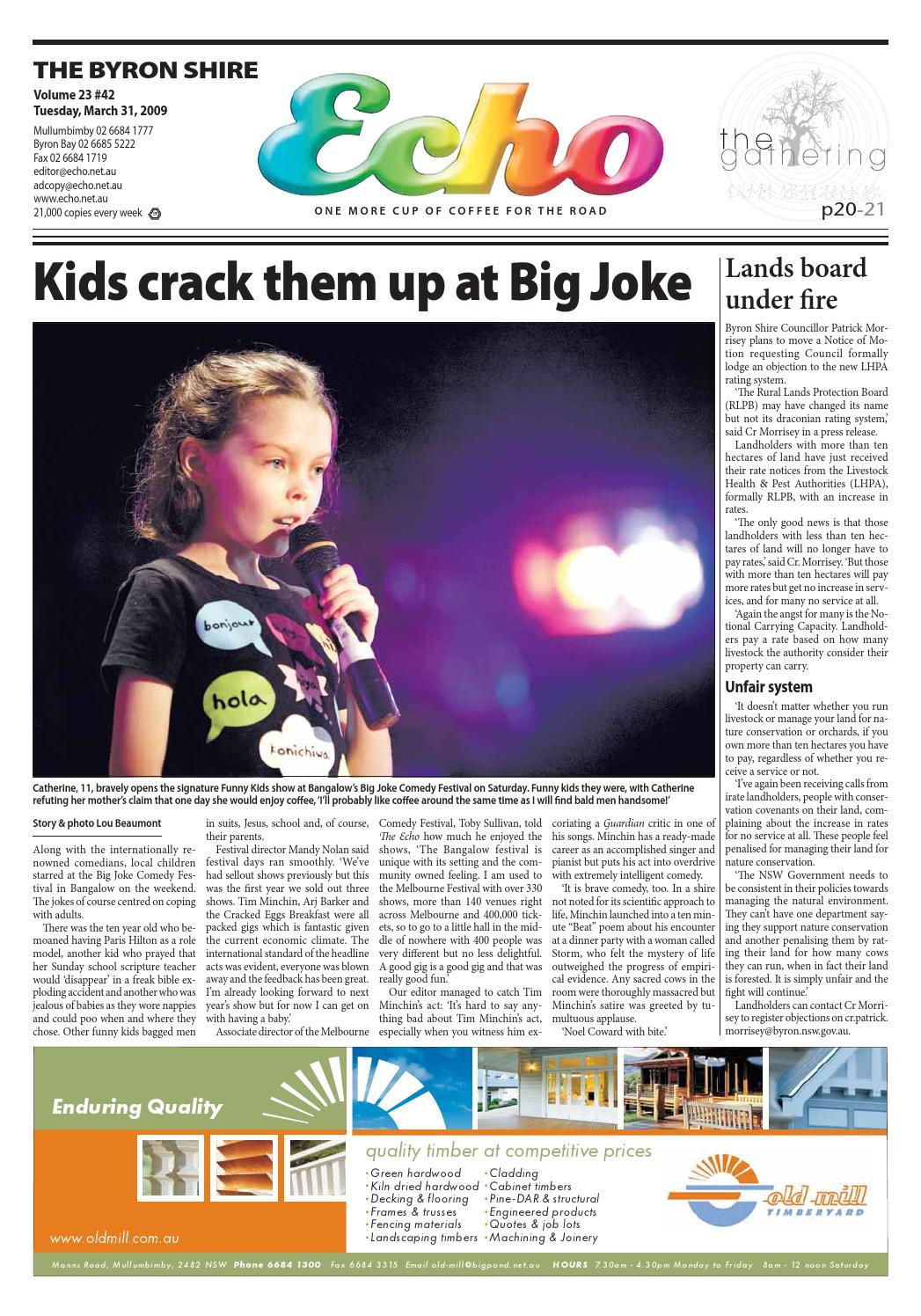 dd5bccae30a8f Byron Shire Echo – Issue 23.42 – 31 03 2009 by Echo Publications - issuu