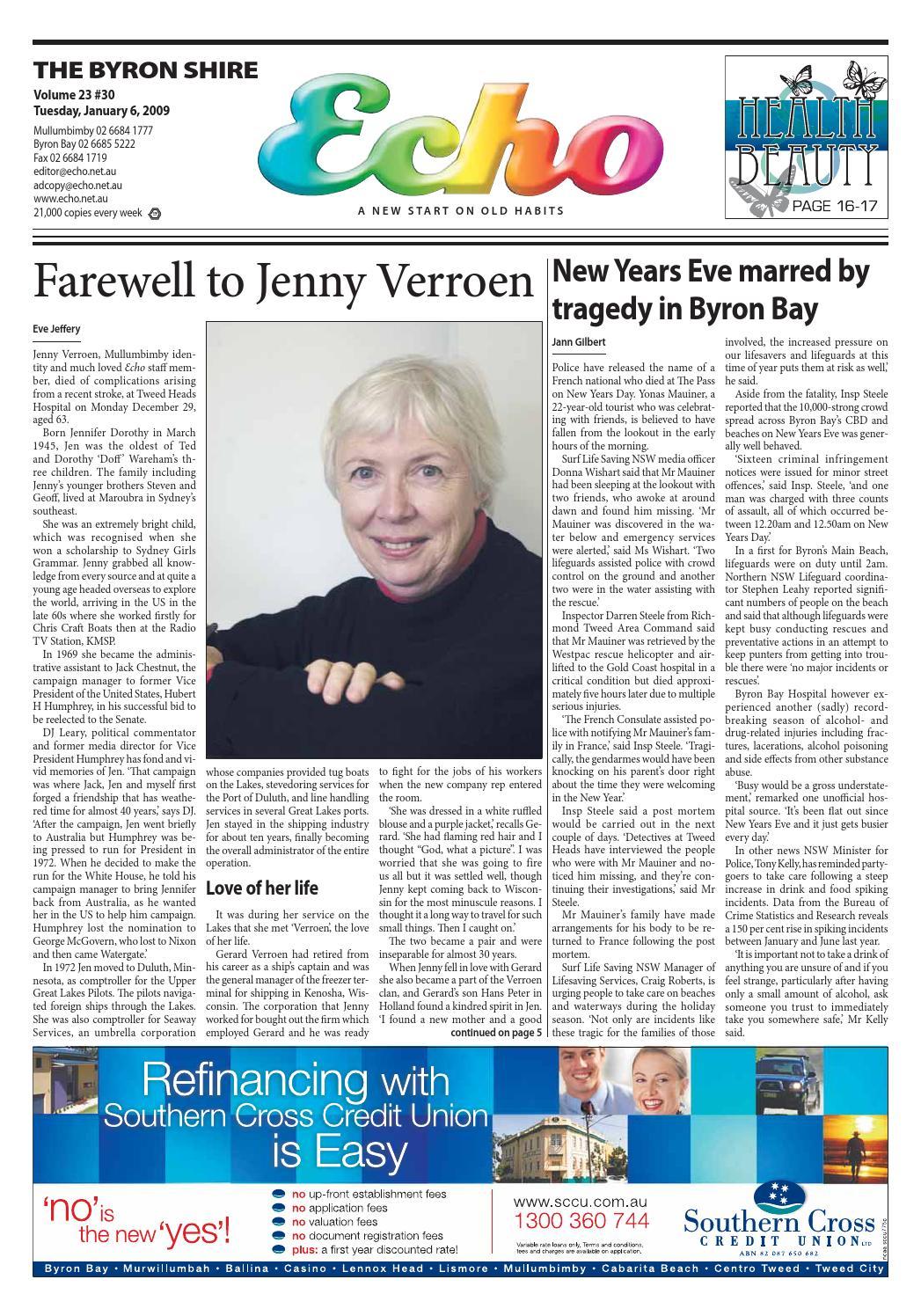 Byron Shire Echo – Issue 23.30 – 06 01 2009 by Echo Publications - issuu 98fec664be590
