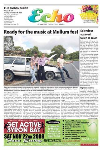 cca93e9c7fd Byron Shire Echo – Issue 23.24 – 18/11/2008 by Echo Publications - issuu