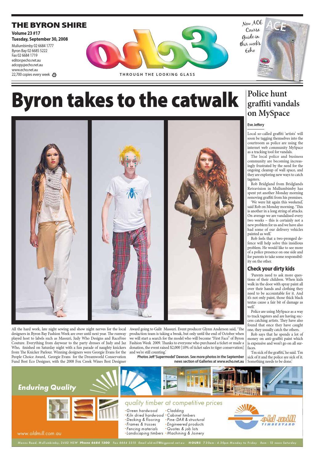 ed24623f5 Byron Shire Echo – Issue 23.17 – 03 10 2008 by Echo Publications - issuu