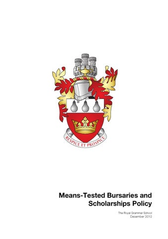 Means-Tested Bursaries and Scholarships Policy by RGS ...