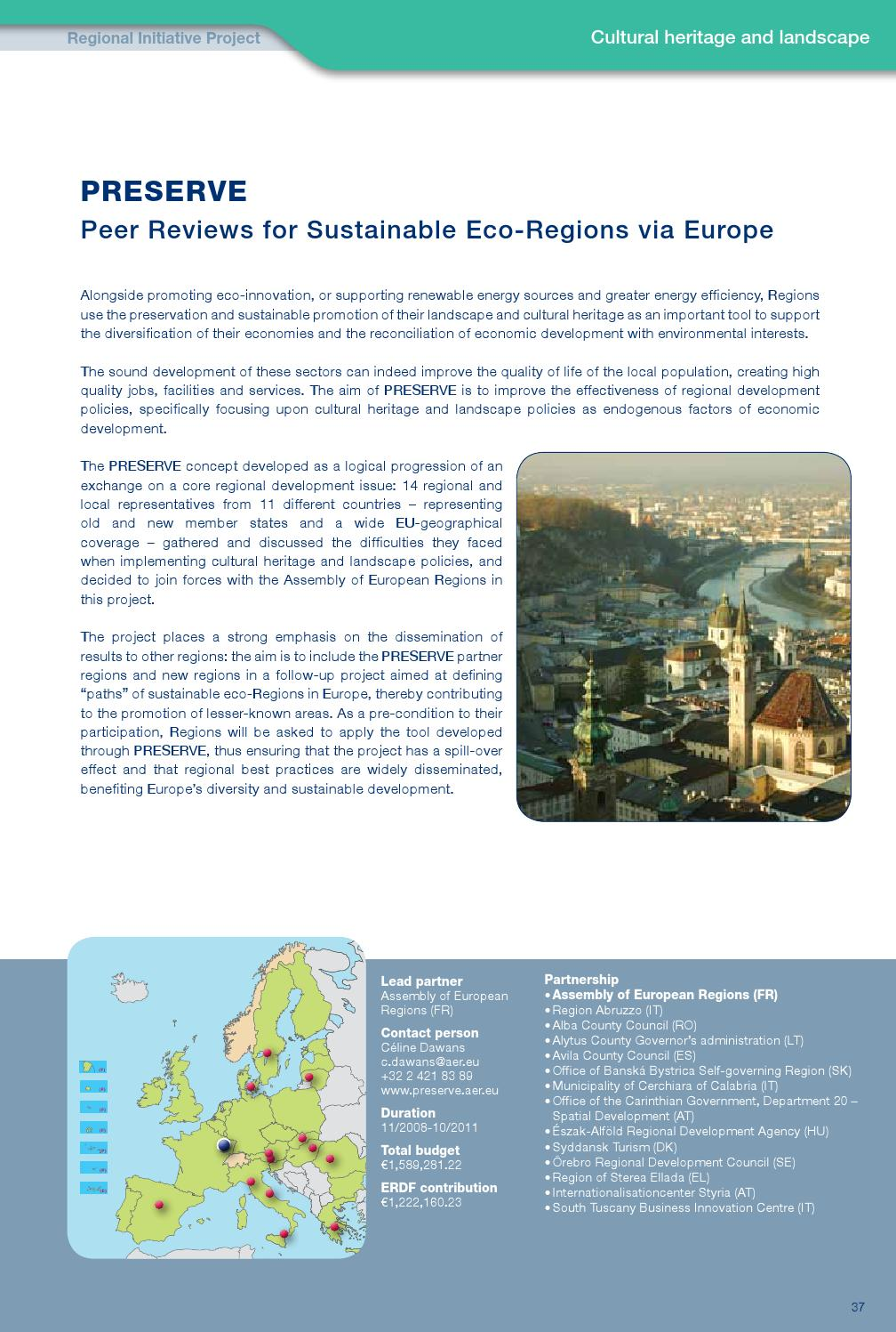 INTERREG IVC Interregional Cooperation Projects: First
