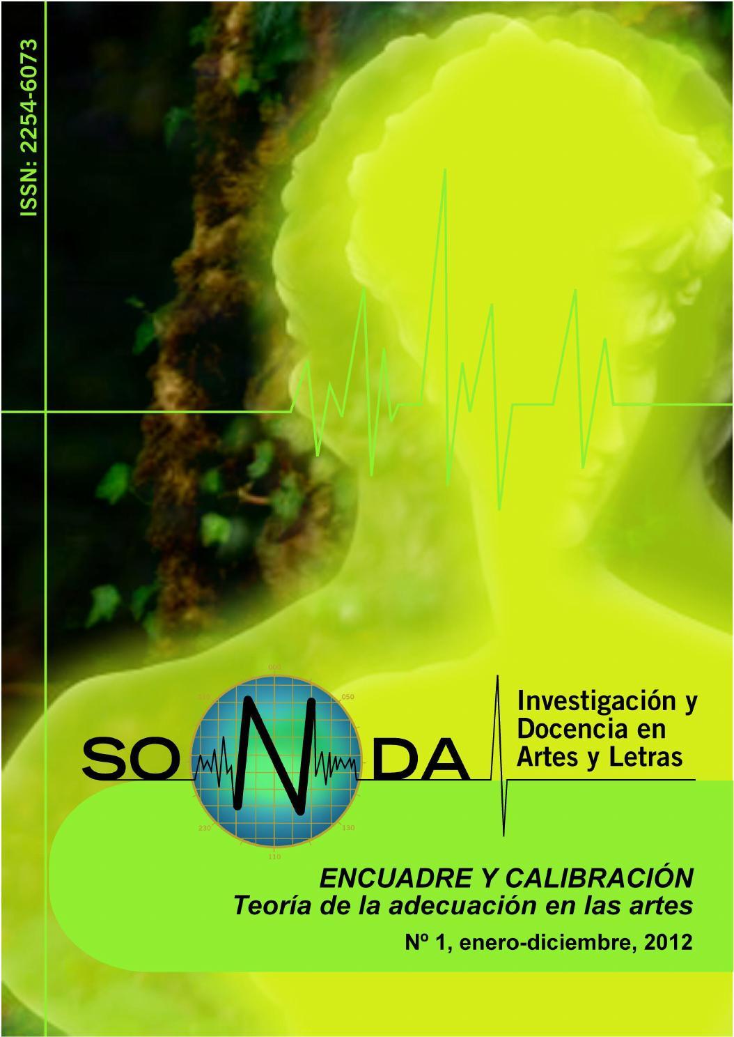 N 1. Revista Sonda: Investigación en Artes y Letras. by revistasonda ...