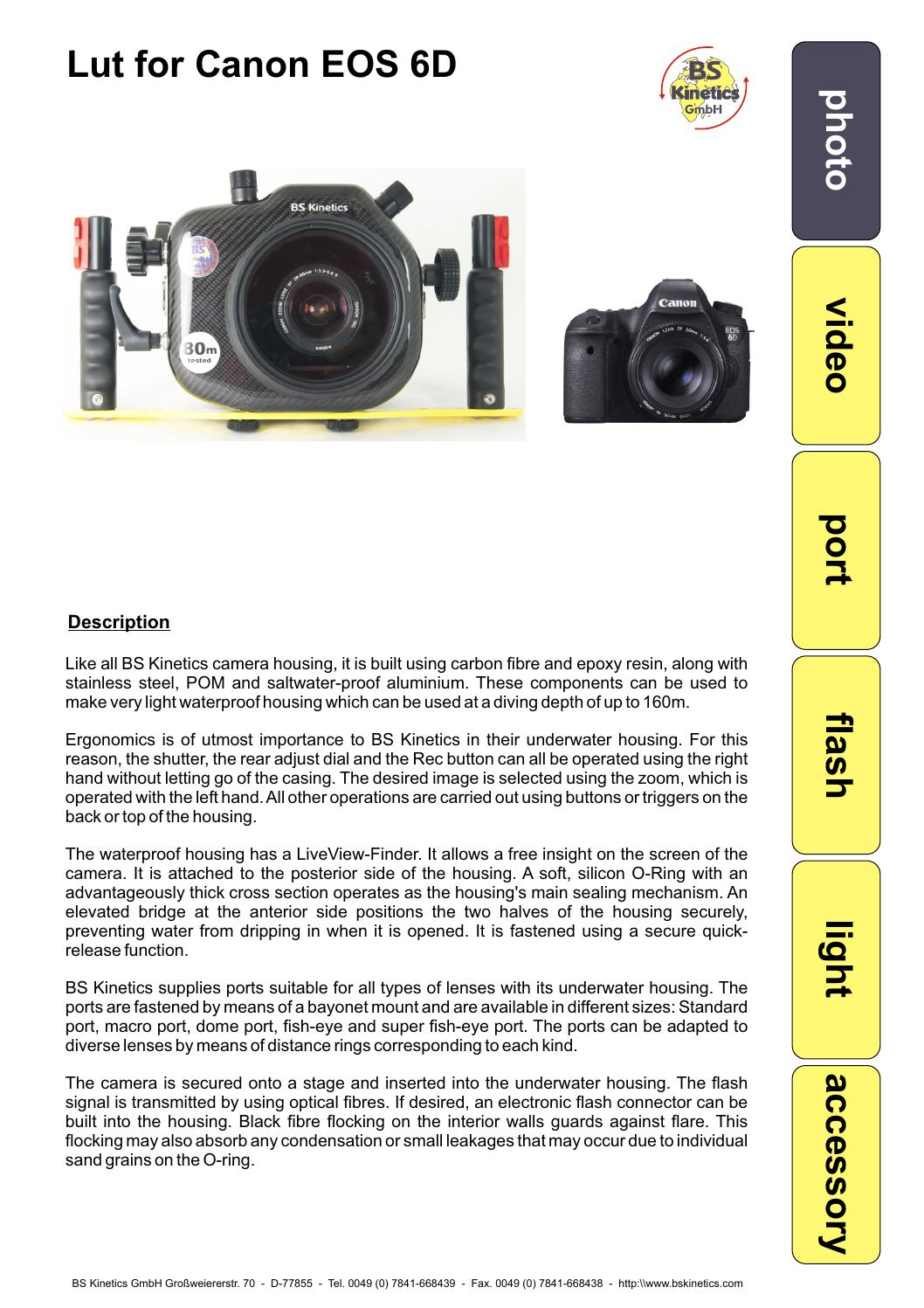 Lut for Canon EOS 6D by BS Kinetics - issuu