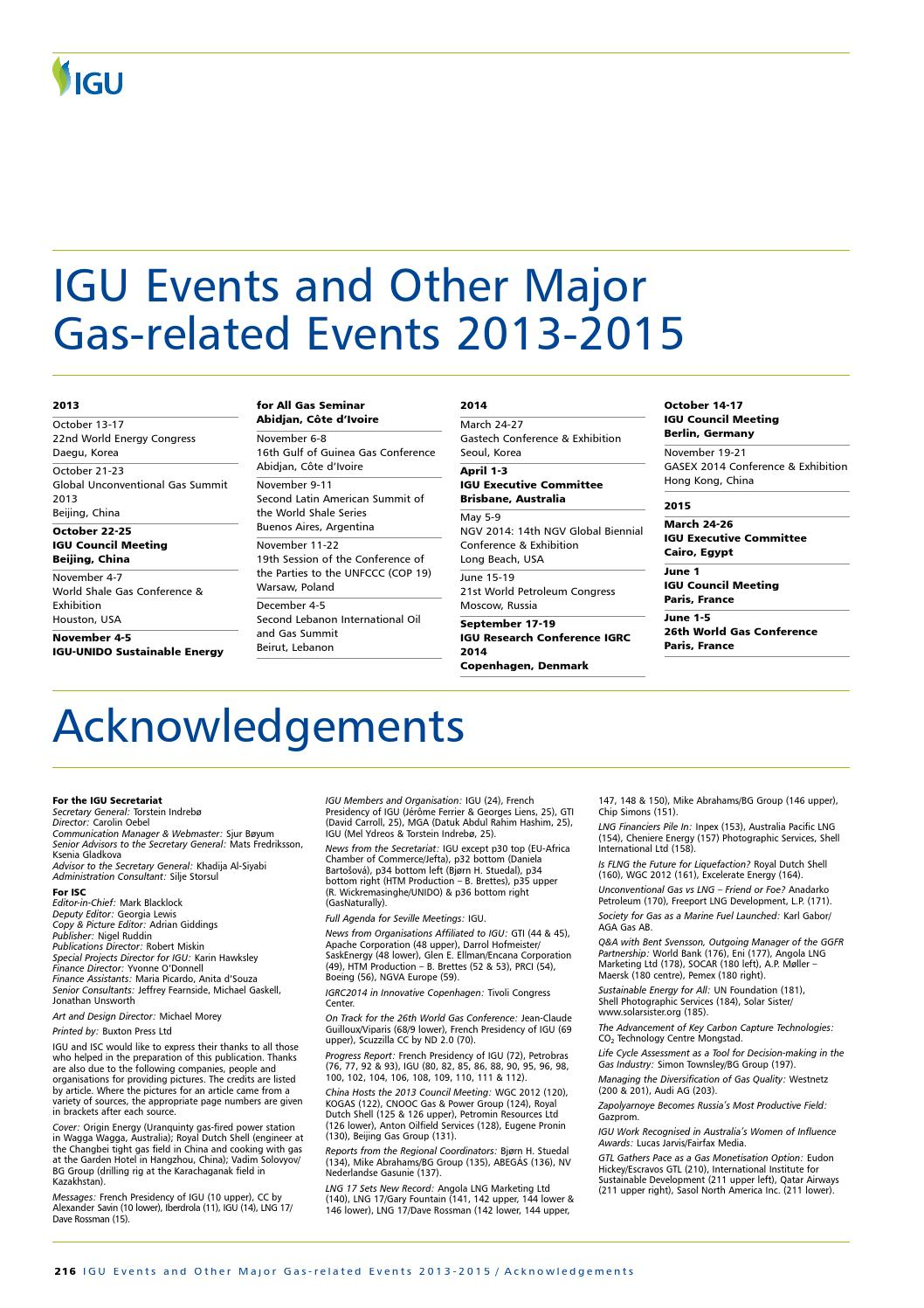 International Gas 2013 - Autumn Edition, Part 2 by