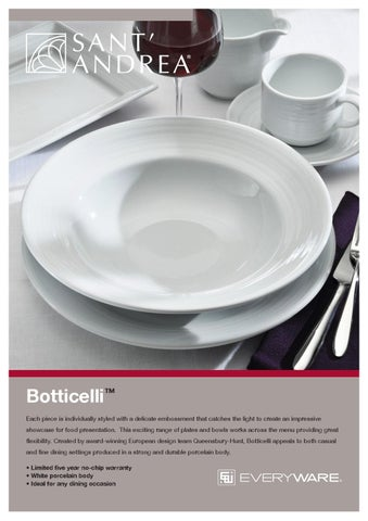 ... delicate embossment that catches the light to create an impressive showcase for food presentation. This exciting range of plates and bowls works across ... & Botticelli Oneida Dinnerware Pattern by EVERYWARE GLOBAL - issuu