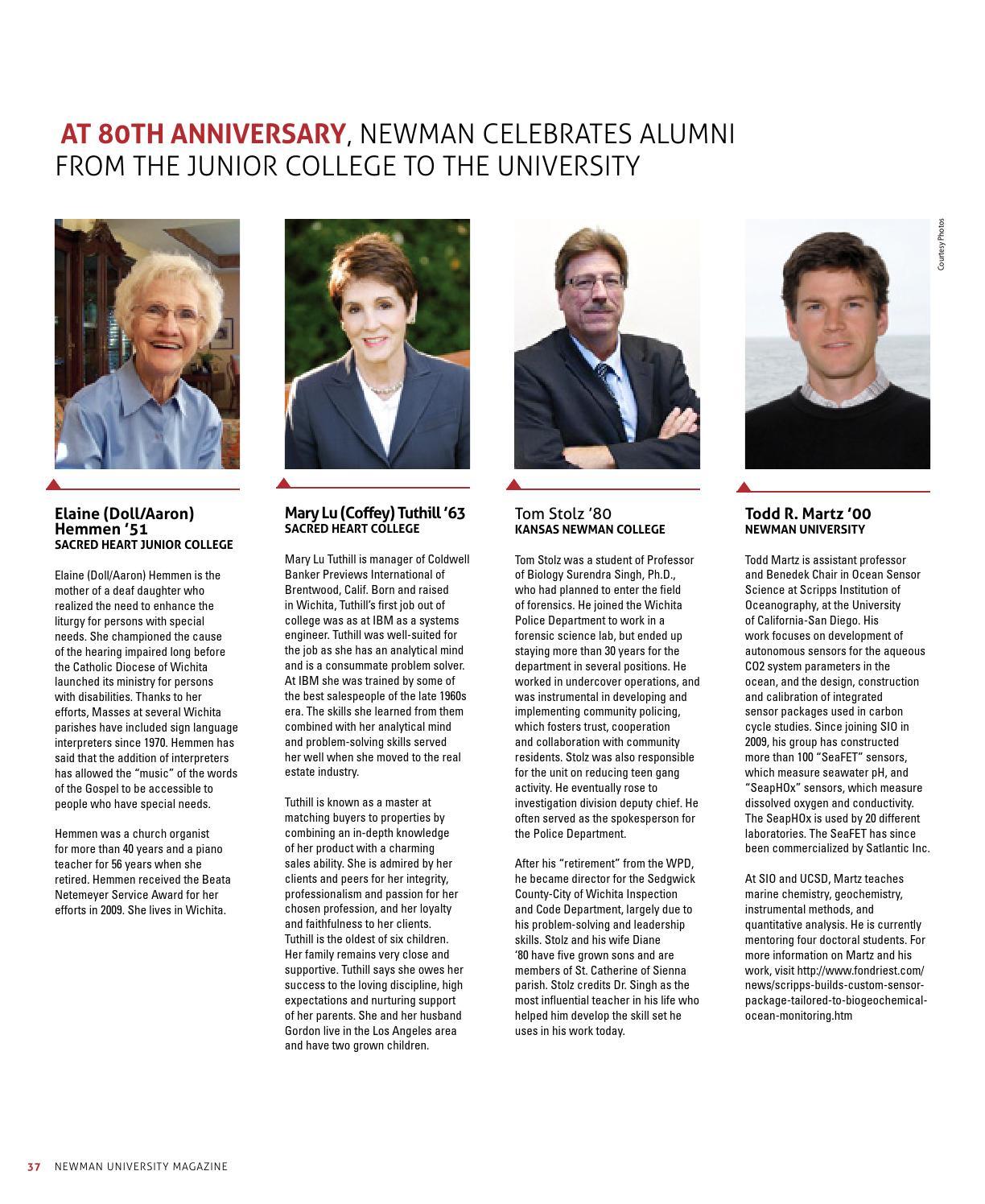 2013 Fall Newman University Magazine by Newman University - issuu