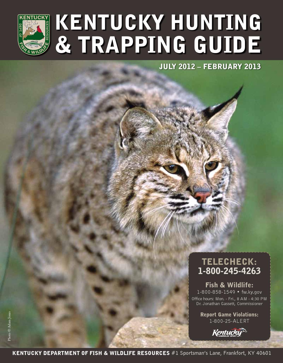 Ky hunting guide 2012 13 by kentucky department of fish for Ky fish and wildlife
