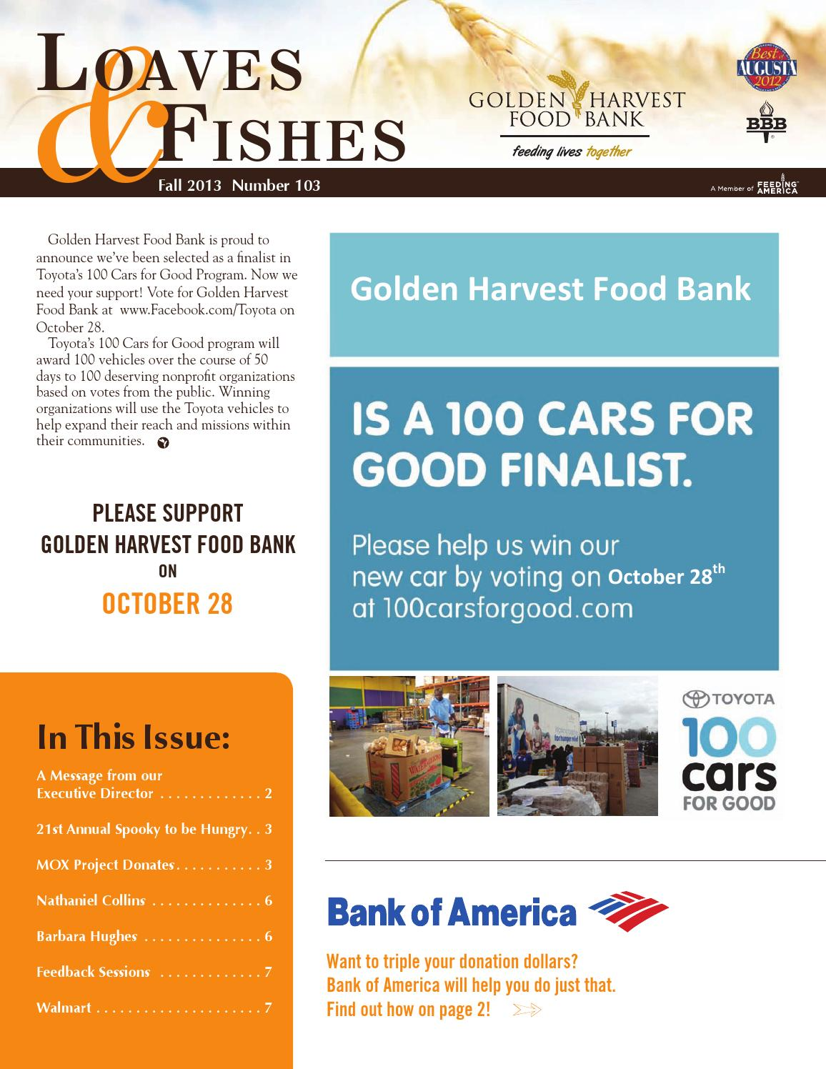Fall 2013 Newsletter by Golden Harvest Food Bank - Issuu