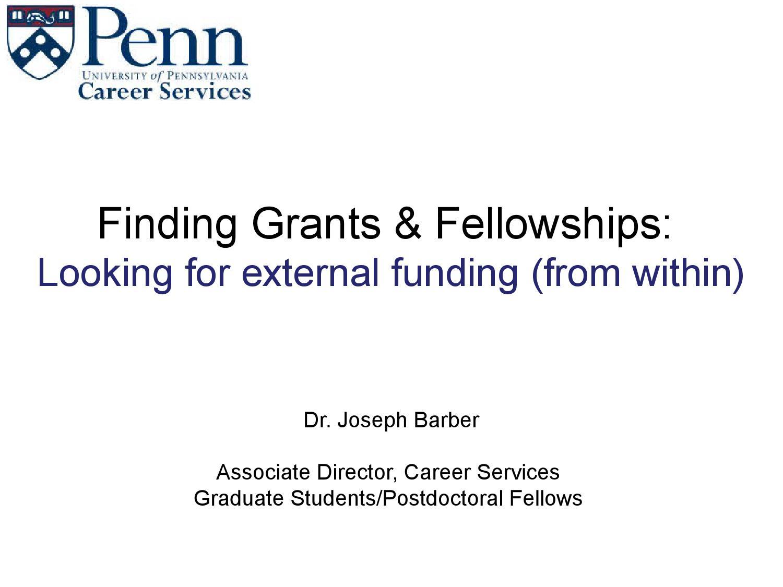 Funding presentation career services (oct 2013 jceb) by Grad
