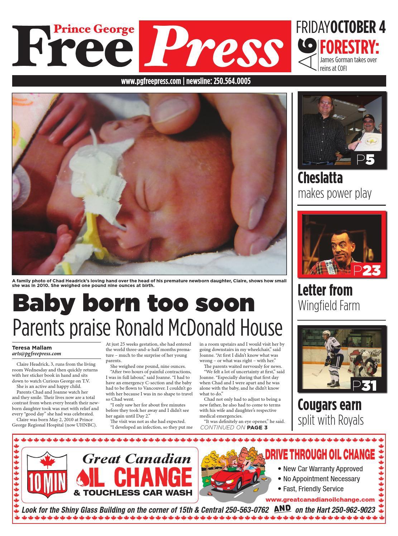 Prince George Free Press, October 04, 2013 by Black Press