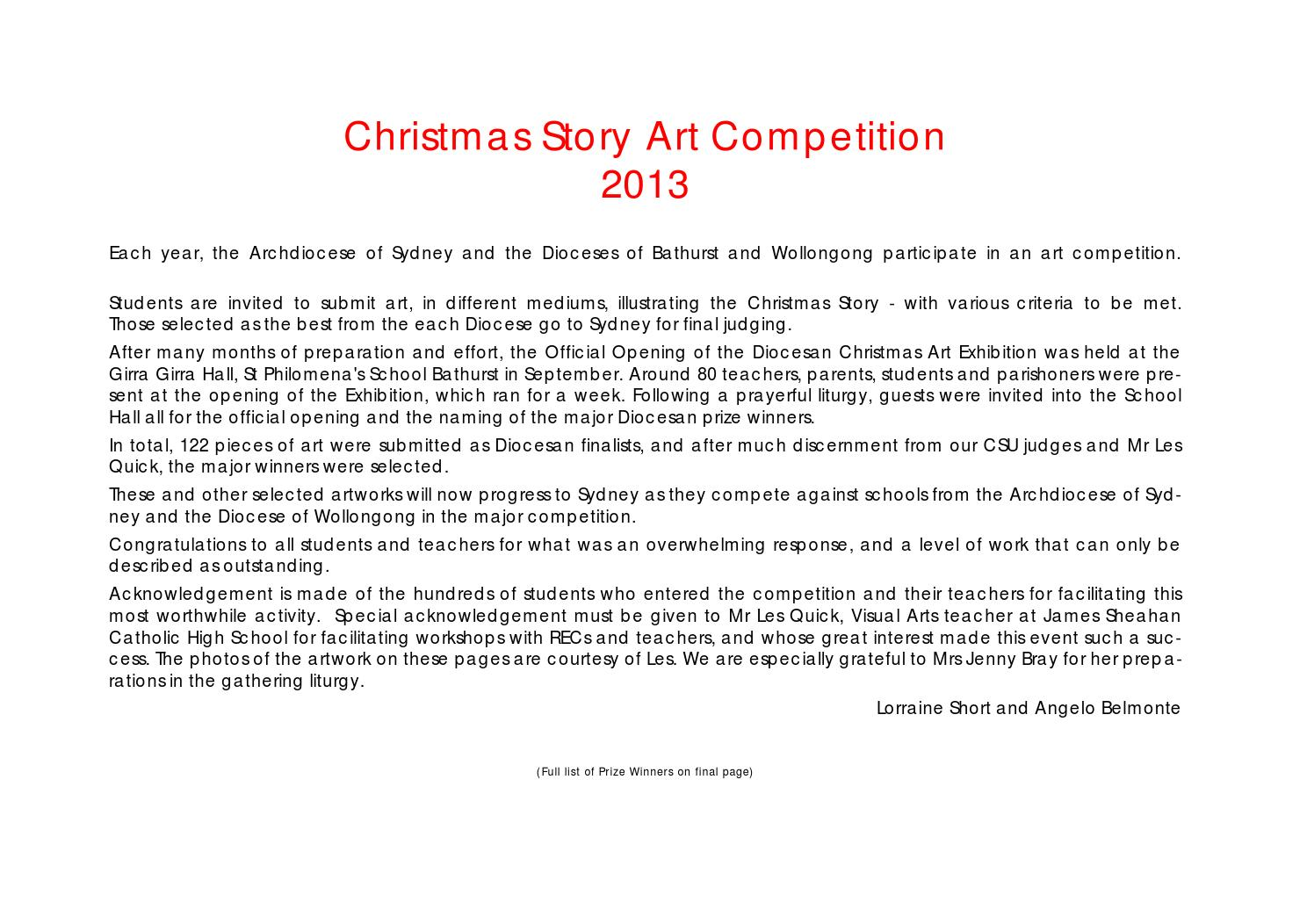 christmas story art competition by catholic diocese of bathurst issuu
