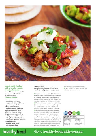 Healthy food guide all time favourite recipes by nextmedia pty ltd lime chilli chicken with avocado tomato coriander salsa forumfinder Gallery