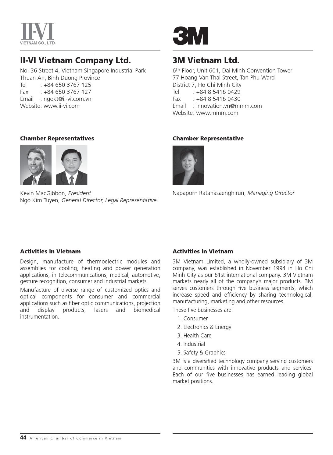 AmCham Membership Directory 2013 by Minh Le - issuu