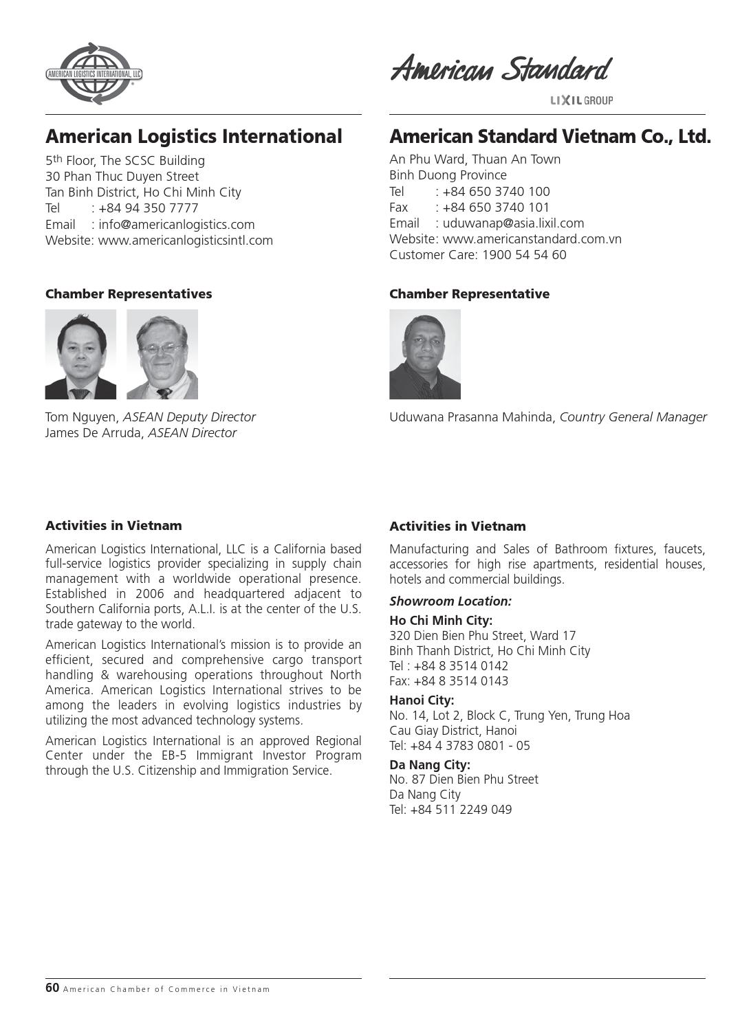 Amcham Membership Directory 2013 By Minh Le Issuu