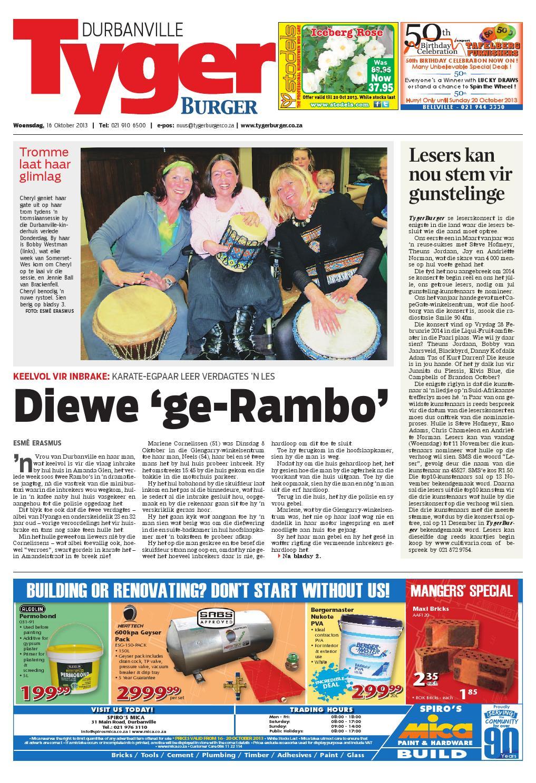 Tygerburger durbanville 16 oct 2013 by Tygerburger Newspaper